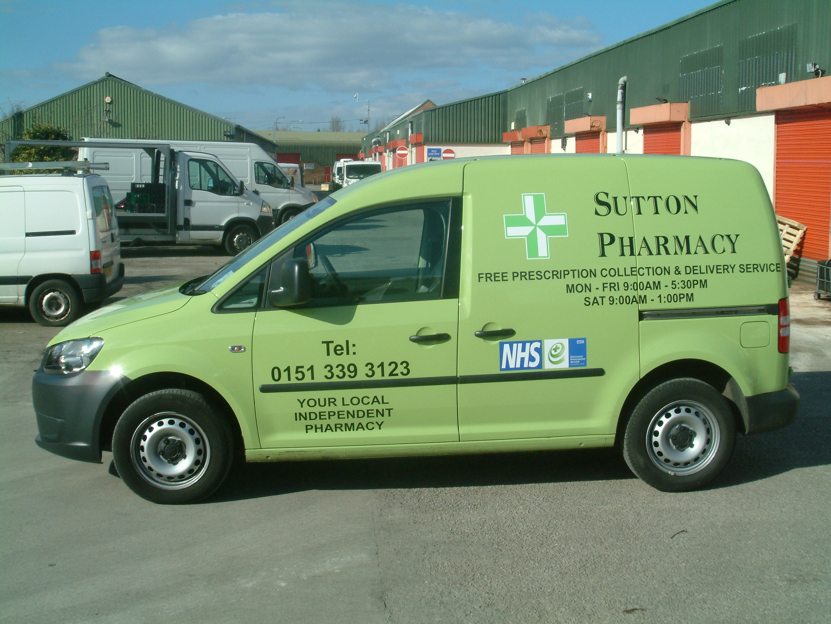 Sutton Pharmacy Van