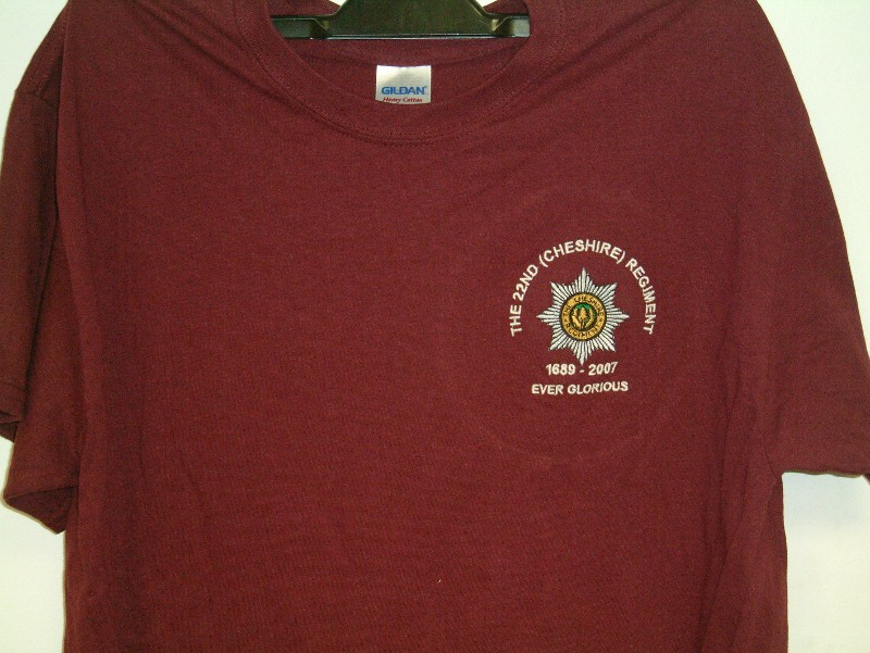Tshirt with cap badge Also with It 22nd thing